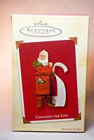Hallmark: Checking The List - Santa and His List - 2002 - Keepsake Ornament