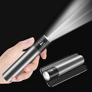 Mini LED Flashlight USB Rechargeable Torch Portable Outdoor Camping Night Lamp