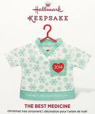 2014 Hallmark Keepsake Ornament THE BEST MEDICINE Nurse Doctor Hospital Scrubs