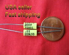 12 pcs - .01uf  (0.01uf)  200v axial metalized poly film capacitors