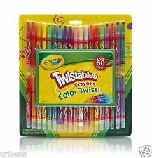 Crayola Twistable Crayons & Paper Toy (60 Piece) 04-5865 Twist-up Kid's Colors