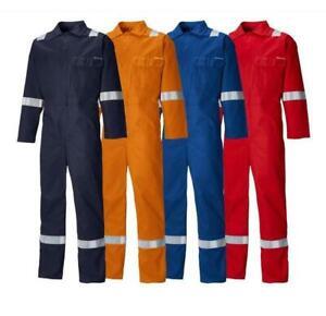 Dickies FR24/7TP Flame Retardant Antistatic Everyday Coverall Boilersuit Hi-Viz