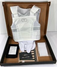NEW GH ARMOR PRO CONCEALABLE BULLET PROOF BODY ARMOR BALLISTIC VEST II WHITE XXL