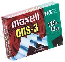 Maxell dds-3 125m/12gb helicoidal Escáner 4mm Datos Cartucho