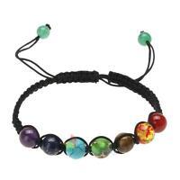 7 Chakra New Healing Balance Beaded Bracelet Lava Yoga Reiki Prayer Stone Unisex