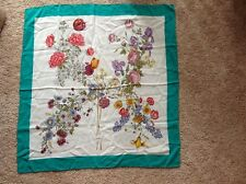 Pre-owned, Authentic Gucci silk scarf with floral design