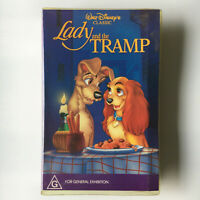 Lady And The Tramp. VHS Video Tape Walt Disney Classics Black Diamond Clamshell