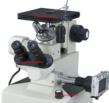 METALLURGICAL INVERTED MICROSCOPE PRECISION TRINOCULAR KFW MICROSCOPES