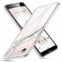 For Google Pixel Phone Rubber Hybrid Silicone Gel TPU Clear Thin Case Slim Cover