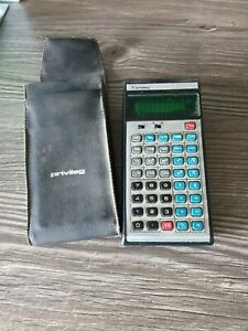 vintage PRIVILEG 585 D-E-NC Taschenrechner mit Hülle