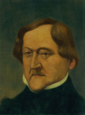 GIACCHINO ROSSINI, COMPOSER - PORTRAIT BY ELIAS RIVERA  - ORIGINAL OIL PAINTING