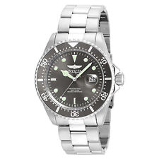 Invicta 22050 Men's Pro Diver Grey Dial Steel Bracelet Dive Watch