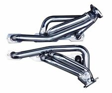 Small Block Chevy S-10 Blazer Silver Coated Exhaust Headers Angle Plugs SBC