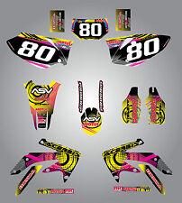 Full Custom Graphic Kit Honda CRF 450X 2005 / 2015 NEON style stickers / decals