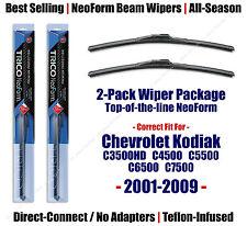 2pk Super-Premium Wipers 2001-09 Chevy C3500HD C5500 C6500 C7500 Kodiak 16220x2