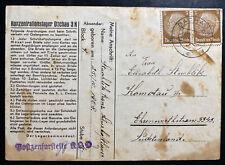 1938 Germany Dachau Concentration Camp KZ Pre War Postcard Cover Stuchlik Franz