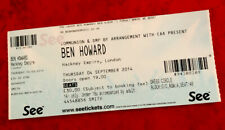 BEN HOWARD TICKET London Hackney Empire 4th September 2014 - UK Seller