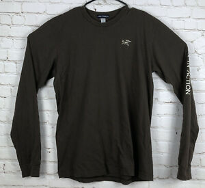 Arc'teryx Long Sleeve Brown T-Shirt Men's Sz L Evolution In Action