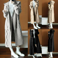 Women's Knitted Sweater Long Sleeve Cardigan Winter Jumper Outwear Coat Jacket