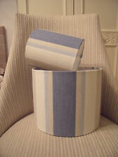 Handmade Drum Lampshade Laura Ashley Awning Stripe Seaspray - 30cm diameter