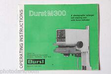 Durst M300 Photo Enlarger Instruction Manual Book - English - USED B48