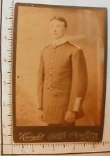 ANTIQUE PHOTOGRAPH; KNIGHT WORCESTER MA; MAN  BUTTON UP COAT 1810