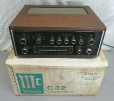 Amazing Vintage Mcintosh C32 Stereo Preamplifier + Mcintosh Box 1 Owner Made Usa