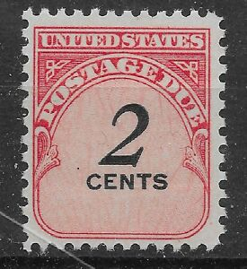 US Scott #J90, Single 1959 Postage Due 2c FVF MNH