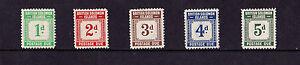 Soloman Islands (Postage Dues) - 1940 Short Set to 5d - Mtd Mint - SG D1-5