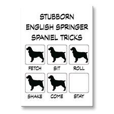 English Springer Spaniel Stubborn Tricks Fridge Magnet Steel Case Funny