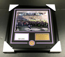 RAY LEWIS LAST DANCE AUTOGRAPHED BOOK CUT FRAMED 11X14 PHOTO BALTIMORE RAVENS