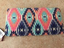 BIJORCA MULTI-COLORED ZIP AROUND CLUTCH / WALLET  -  NEW WITH TAGS.