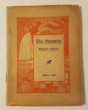 The Vampire by Rudyard Kipling (First Boston Edition, Vintage 1898 softcover)