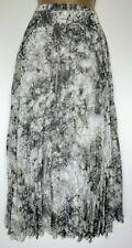 Next Pleated Midi Skirt Sz 18 Grey Yellow White Floaty