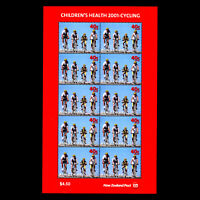New Zealand 2001 - Children's Health - Cycling - Sc B166a MNH