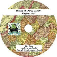 CLARKE County Virginia VA - History & Genealogy, Ancestry Family CD DVD