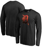 Detroit Tigers Fanatics Branded Midnight Mascot Long Sleeve T-Shirt - Black