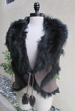 AWESOME WOMENS FRENCH LAMB FUR VEST - MUST SEE!