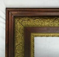 "ANTIQUE FIT 8""x 10"" OAK GOLD GILT  PICTURE FRAME FINE ART ORNATE VICTORIAN"