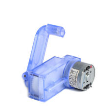 6V Hand Crank Dynamo Generator DIY Mechanical Motor Reduction Gear Box WL