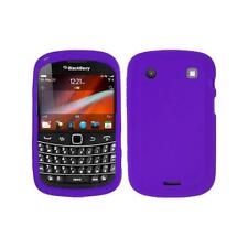 Purple Silicone Skin Case Cover for Blackberry Bold Touch 9900 / 9930