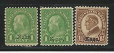 Usa: 1939;  Scott 658 MNH, 659 MH, 669 MH, overprints, good conditions. EBN042