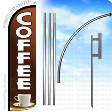 Windless Swooper Flag Feather Banner Sign 2.5/'x11.5/' gz ESPRESSO
