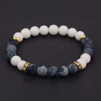 Natural Lava Stone Gemstone Beads Buddha Head Lion's Head Men's Bracelets Gift