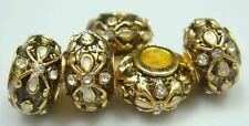 Clover Faberge Egg Bead Drip Gum Lime Clear Crystal Fit sterling 925 Bracelet hn