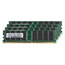 4GB 4X1GB DDR1 400Mhz PC3200 2.5V 184Pin Low Density Dimm Desktop SDRAM Memory