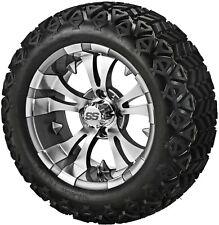 4 Golf Cart 23x10-14 All Terrain DOT  Tire on a 14x7 Gunmetal Vampire Wheel