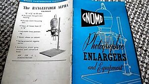 GNOME PHOTOGRAPHIC ENLARGERS AND EQUIPMENT + MASKING FRAME FLYER (1954 BROCHURE)