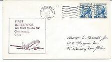 1968 FFC Jet Service Air Mail Route 87 Cincinnati Oh
