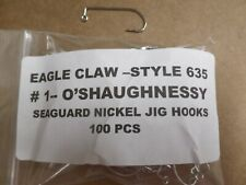 EAGLE CLAW --- 635  # 1  JIG HOOK  - 100 PCS PER PACKAGE